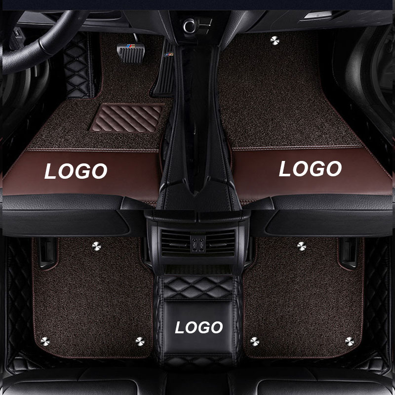 Car Floor Mat for Mercedes <font><b>ML</b></font> 320 <font><b>350</b></font> 400 450 500 550 W164 <font><b>W166</b></font> W163 ML63 ML300 ML320 ML350 Accessories Leather Floor Mat Carpet image