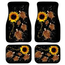цена на INSTANTARTS Turtles U r my sunshine Floor Mats for Car Black Truck Floor Mat Doormat Girly Car Accessories Interior 4pcs/Set Rug