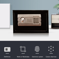 Mini Security Password Safety Box Small Household Steel Safes Money Bank Safurance Luxury Electronic Alarm Safety Box