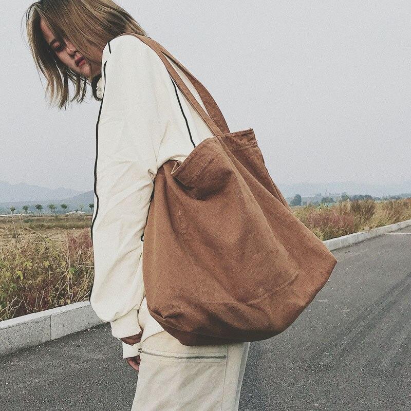 Mode femmes toile épaule Shopper sac coton tissu grande capacité étudiants femmes sacs à main Eco tissu fourre-tout sacs à provisions