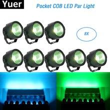 เพลงแสง 30W RGBW 4IN1 LED COB ไฟล้างเวทีผลแสง DMX ดิสโก้ไฟ PAR LED สำหรับ DJ แสงเลเซอร์โปรเจคเตอร์