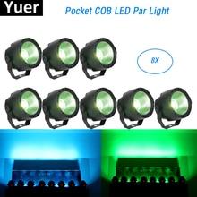 Lekka muzyka 30W RGBW 4w1 LED COB Par światła etap efekt mycia światła DMX światła dyskotekowe Par LED oświetlenie Dj projektor laserowy