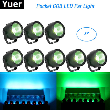 Light Music 30W RGBW 4IN1 LED COB Par Lights Stage Wash Effect Light DMX Disco Lights Par LED For Dj Lighting Laser Projector 12pcs illusion plastic par light rgbw 4in1 disco wash light equipment 8 channels dmx 512 led effect stage dj party lighting