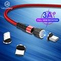 LOVEBAY чехол 540 поворот 3A Магнитный кабель мобильный телефон зарядки Кабели Micro USB кабель USBC Тип C зарядное устройство для iPhone 12 проводное заряд...