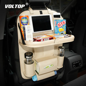 Image 1 - Organizador do carro dobrável saco de armazenamento de volta assento bandeja de comida mesa paletes de água suporte de copo de carro com multi função dobrável saco