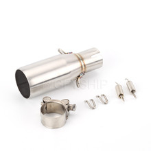 250 Motorcycle For GILERA NEXUS 125 300 Escape Slip-on Exhaust Muffler Middle Link Pipe