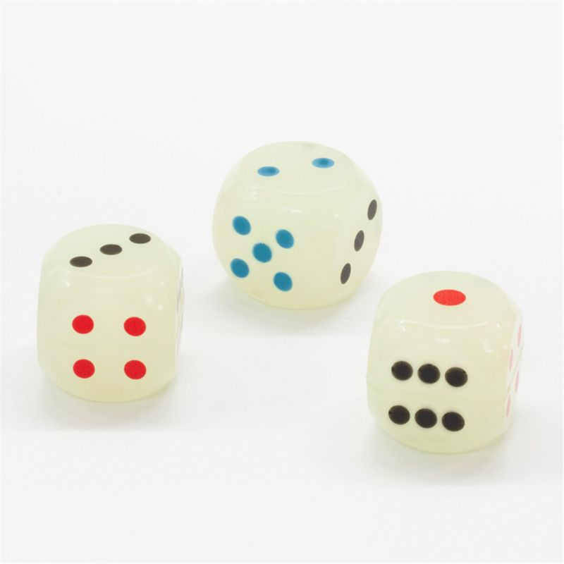 Drinking Dice 45MM Rubber Round Corner Dices Board Game Dice Party Cubes Digital Dices Data Cube Bounce Ball Kids Toy