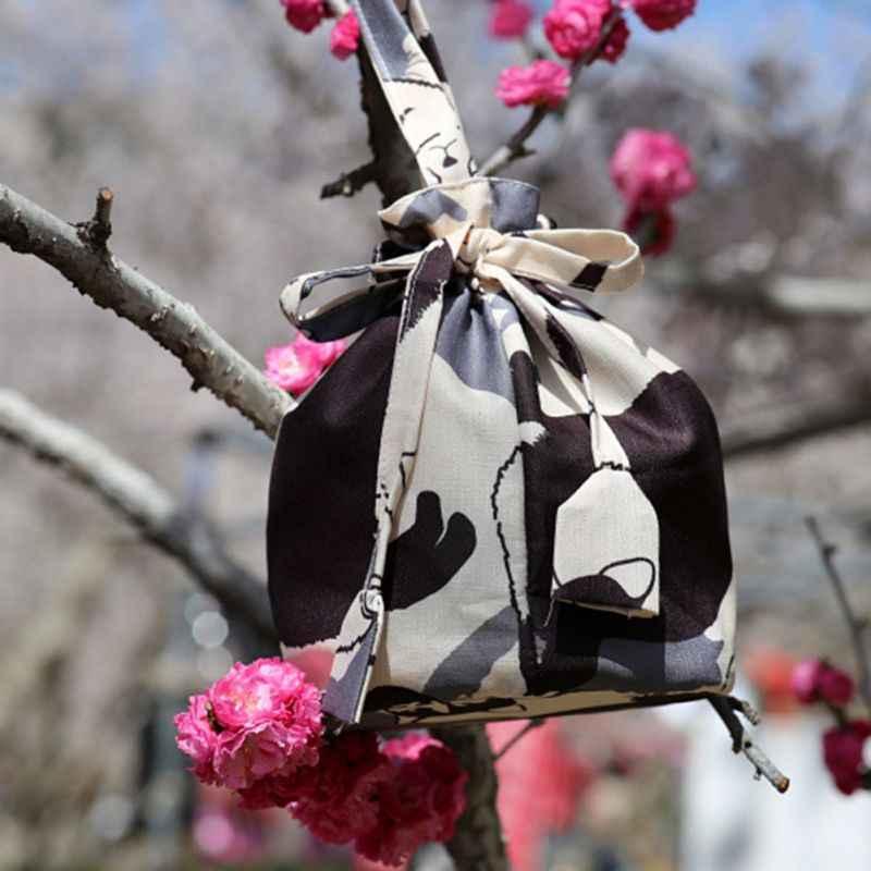 Borsa Della Moneta Della Borsa giapponese Kimono Yukata Borsa Floreale Coulisse Borsa Secchiello Del Giappone Tradizionale Cosmetico Portachiavi Cosplay