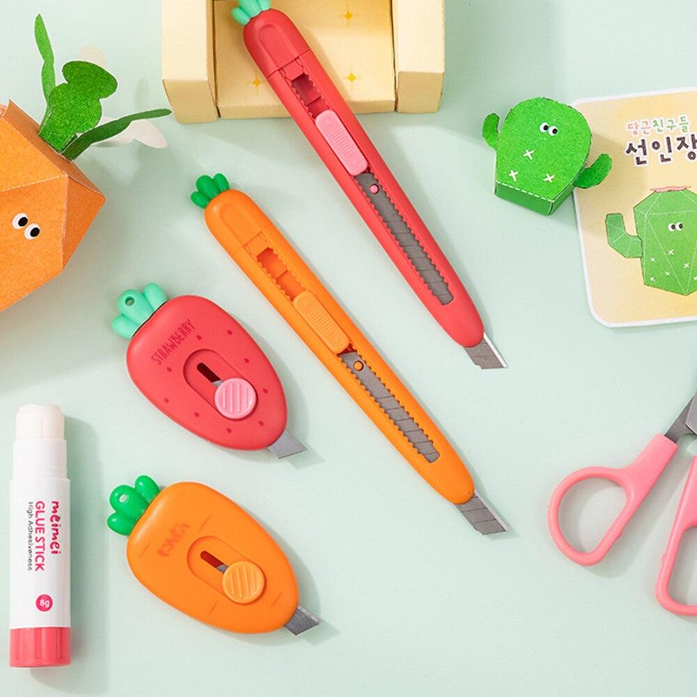 Портативный мини морковь арт Ножи Экспресс распаковки конверт Офисные ножницы для бумаги школьные принадлежности 1 шт.