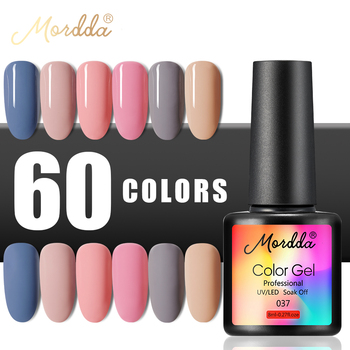 MORDDA Nail Polish UV Gel Varnish 8ML Nail Gel Matte Lacquer 60 Hybrid Colors LED Painting For DIY Manicure Need Matte Top Coat 1
