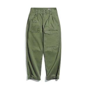 Image 2 - Maden Retro styl wojskowy luźne spodnie wojskowe p37 klasyczna prosta duża kieszeń dorywczo spodnie męskie