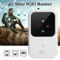 Portátil 4g lte wifi roteador 150 mbps de banda larga móvel hotspot sim desbloqueado wifi modem 2.4g roteador sem fio
