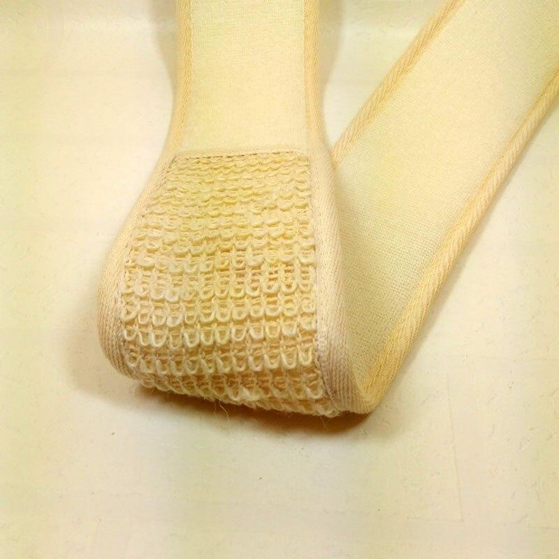 Newly Flax Cotton Soft Exfoliating Back Strap Bath Brush Shower Massage Spa Scrubber Sponge Body Skin Health Cleaning CTN88