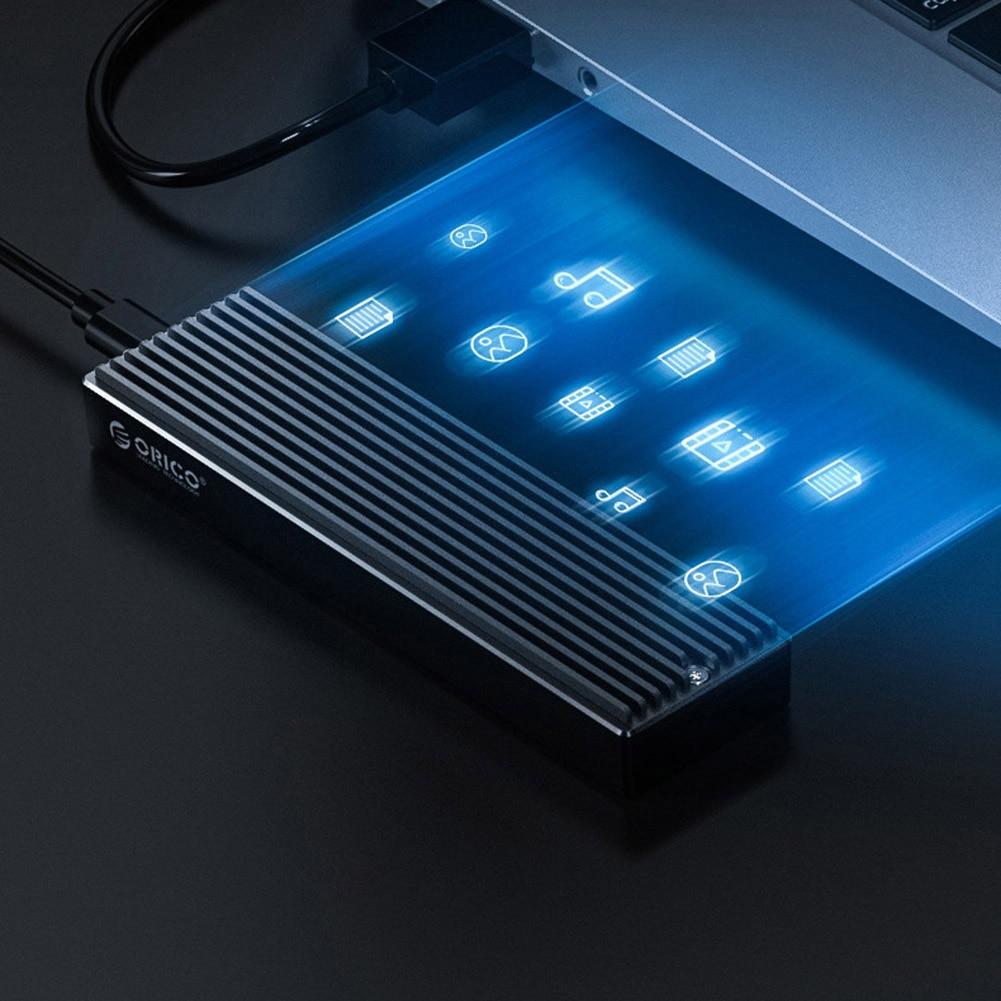 ORICO M2PV-C3/M2PF-C3 Type-C M.2 NGFF/NVME Solid State Drive Enclosure Box USB3.1 5/10Gbps External 2230/2242/2260/2280 SSD Case 5