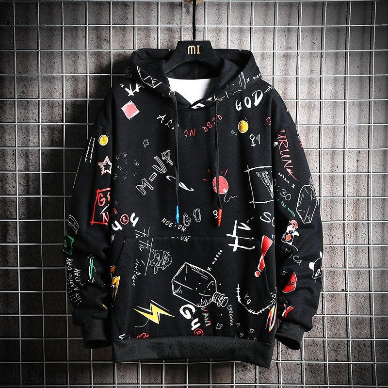 Homens com capuz com nervuras outono masculino moda hoodies moletom masculino cor sólida splice hoodies estilo de rua|Agasalhos e Moletons|   -