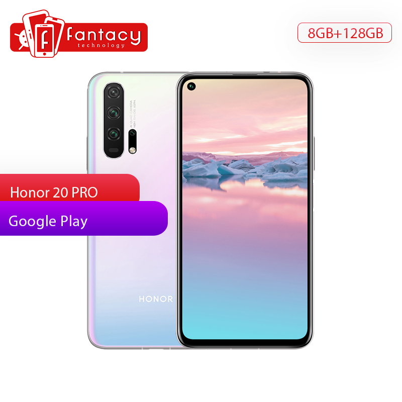 Honor 20 Pro 8G 128G Smartphone <font><b>4000</b></font> <font><b>mAh</b></font> 6.26 Inch Full Screen 48MP 4 Shooting Cameras Super Charge Fingerprint Recognition image