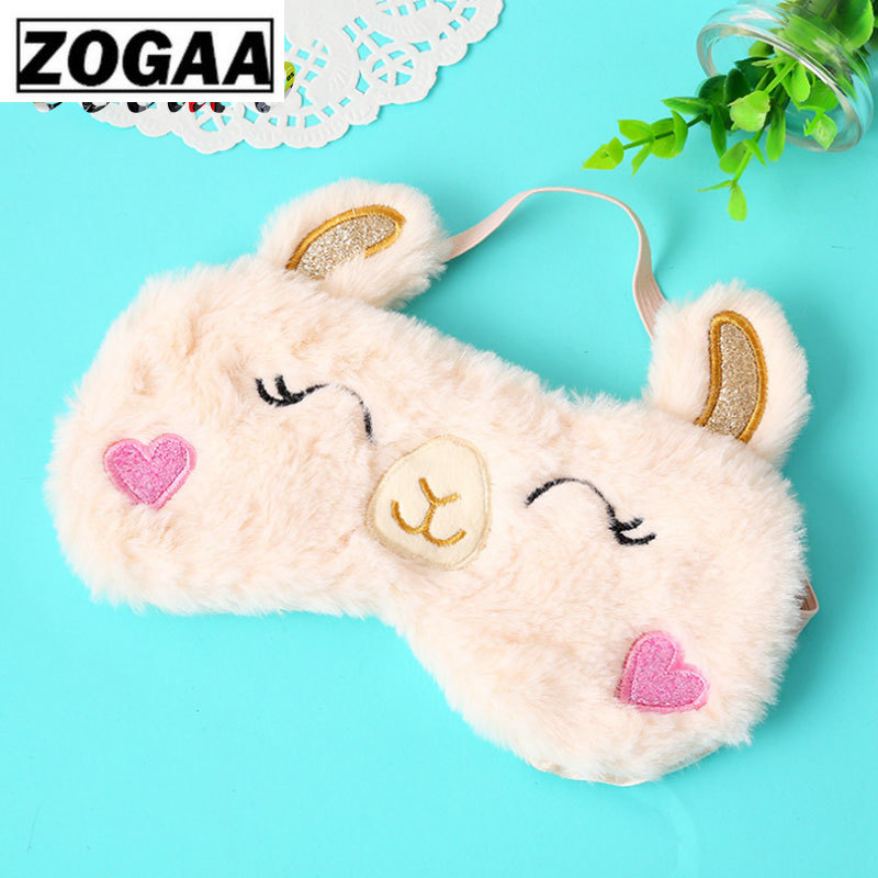 1PCS Eye Mask Alpaca Sleep Eye Mask Pink Orbital Rabbit Cartoon Koala Shade Sleep Eye Masks Stuffed & Plush Animals A60