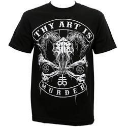 A tua Arte É Assassinato Baphomet T-Shirt Do Crânio de Impressão Preto dos homens Dos Homens Roupas de Manga Curta TOP TEE Masculino Bateria T Camisas