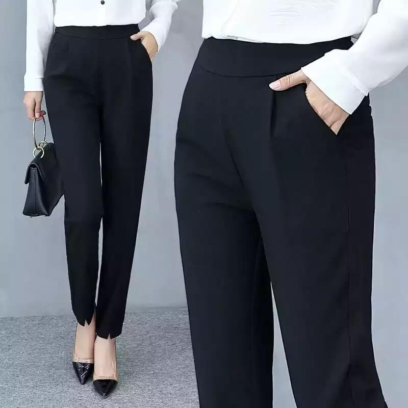 Autumn Spring Office Ladies Suit Pants 2019 Fashion Women Casual Pants High Waist Straight Leg Slacks Lady Women Trousers