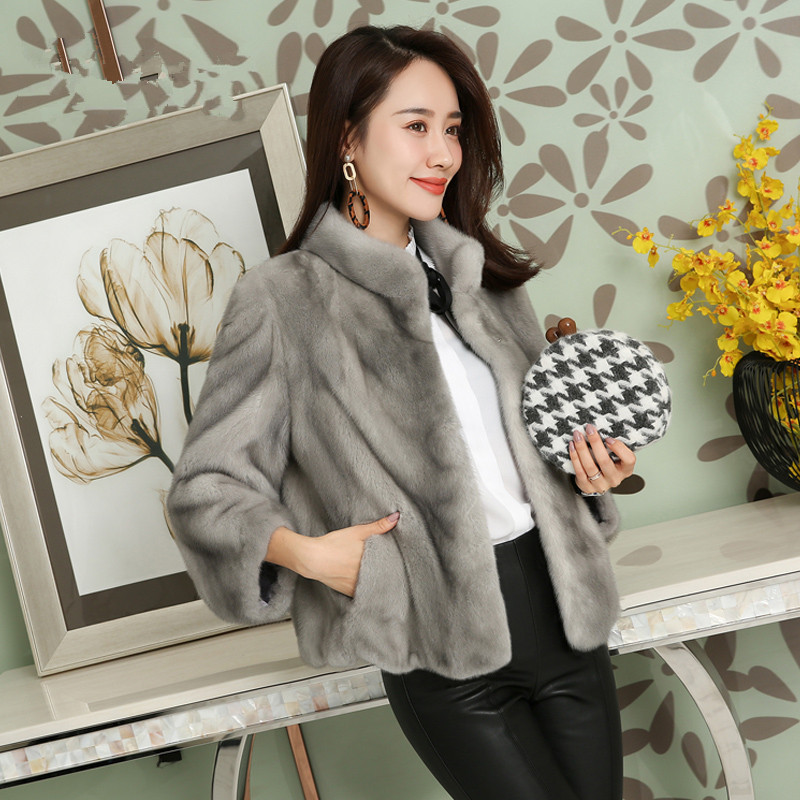 Mink Real Fur Coat 2020 Winter Jacket Women Natural Luxury Full Pelt Fur Jackets For Women Elegant Short Coats MY3868 S S