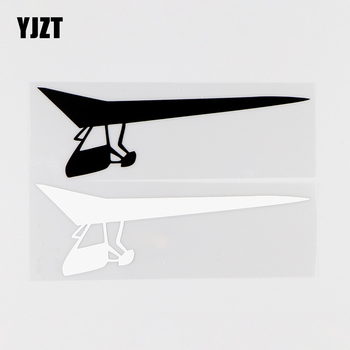 YJZT 15.8X5CM Ultralight Aircraft Personality Vinyl Car Decal Stickers Aircraft Pilot Black / Silver 10A-0017 image