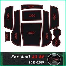 Carsio Tapis de Voiture sur Mesure pour Audi A3 S3 RS3 /à partir de 2016 avec Logo 8 Clips