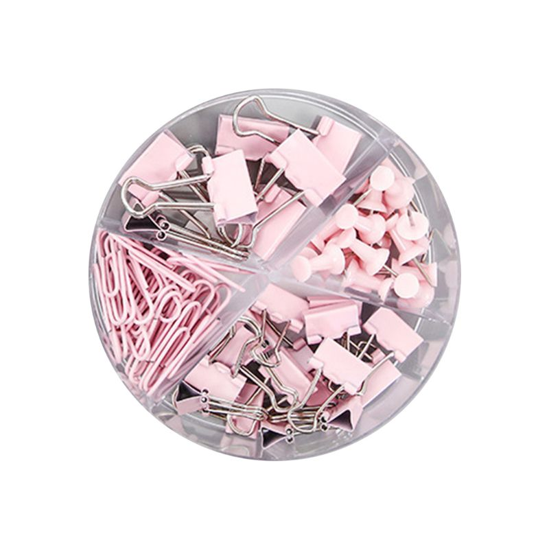 72pcs Metal Paper Clip Multipurpose Thumbtacks Office Document  Long Tail Clips L41E