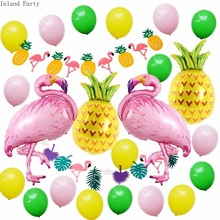 24pcs/lot 12inch Balloons And  flamingo Birthday Party Decorations Mix Rose Wedding Decoration Helium Ballon unicorn party