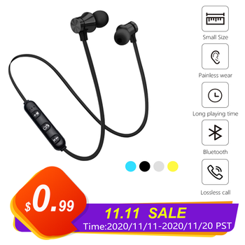 5.0 Bluetooth Earphone Sports Neckband Magnetic Wireless Headset Stereo Earbuds Music Metal Headphones With Mic For All Phones bluetooth earphone sports neckband magnetic wireless earphones stereo earbuds music with mic for iphone xiaomi metal headphones