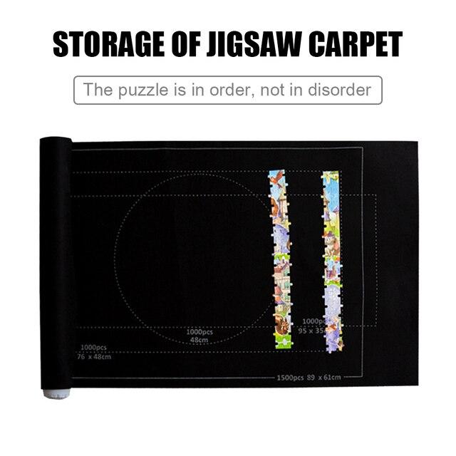 Puzzle Mat Jigsaw Roll mata z filcu mata do zabawy duża do 1500 sztuk Puzzle akcesoria przenośna mata dla niemowlęcia zabawki dla niemowląt