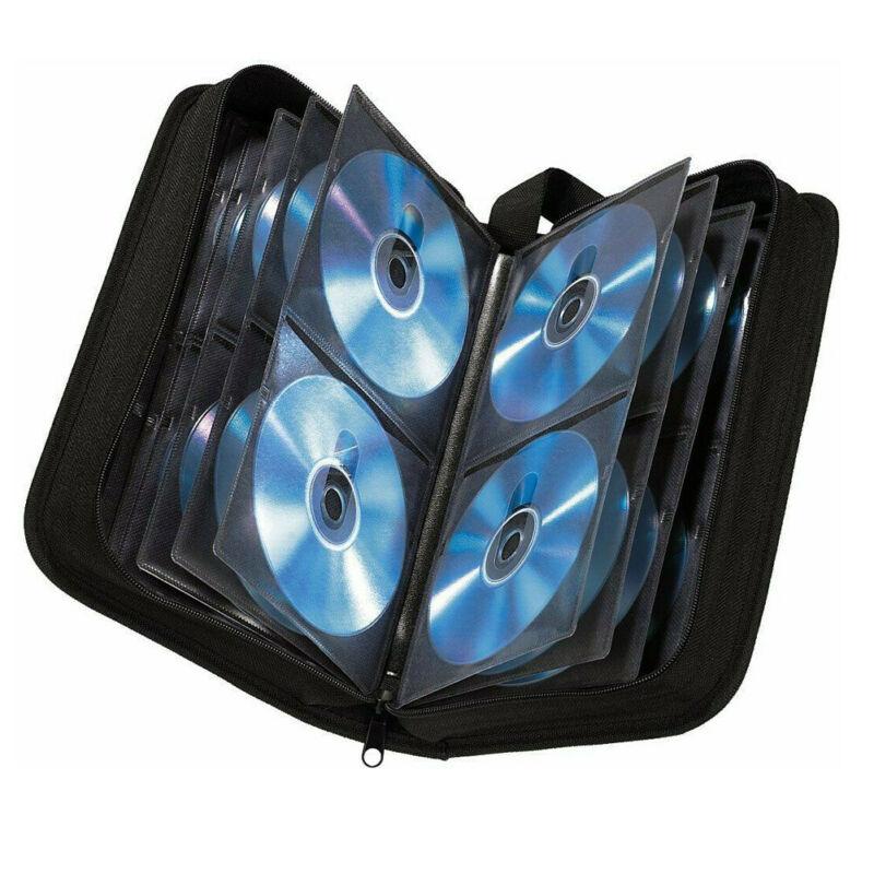 CD DVD Blu Ray Disc Carry Cases Holder Bag Wallet Storage Ring Binder 80 Sleeve