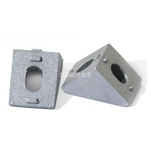 50pcs 2020 Slot6 Corner Angle L Brackets Metalworking Connector Fasten connector Aluminum Profile Accessories