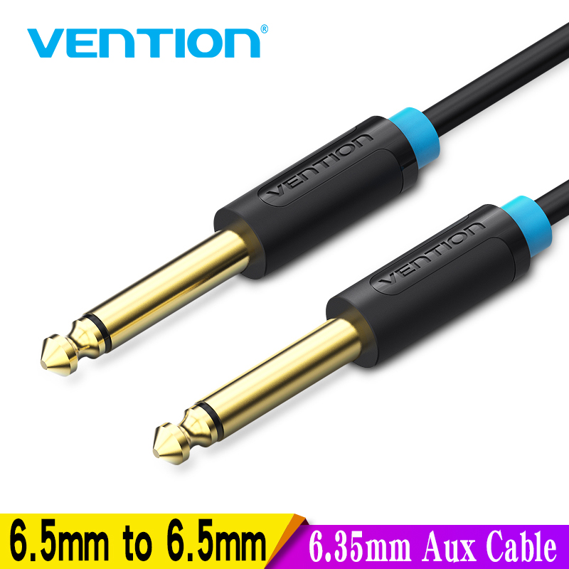 Vention Aux Guitar Cable 6.5 Jack 6.5mm to 6.5mm Audio Cable 6.35mm Aux Cable for Stereo Guitar Mixer Amplifier Speaker cable 5m