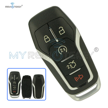 Remote Smart key case shell 5 button for Ford Edge Explorer Fusion M3N-A2C31243300 2013 2014 2015 2016 2017 164-R7989 Remtekey накладка на люк бензобака для ford edge 2013 2015