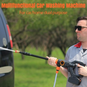 Image 5 - 319PSI 4000mAh akumulatorowa myjka z dużą mocą wysokociśnieniowa myjnia samochodowa pistolet Spray do samochodu ogród strumień wody pod ciśnieniem narzędzia do czyszczenia przenośny środek czyszczący