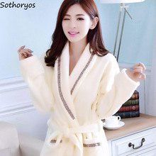 Халаты женские плотные однотонные с длинным рукавом фланелевые теплые банные халаты с карманами женские разные цвета для отдыха высокое качество женские элегантные