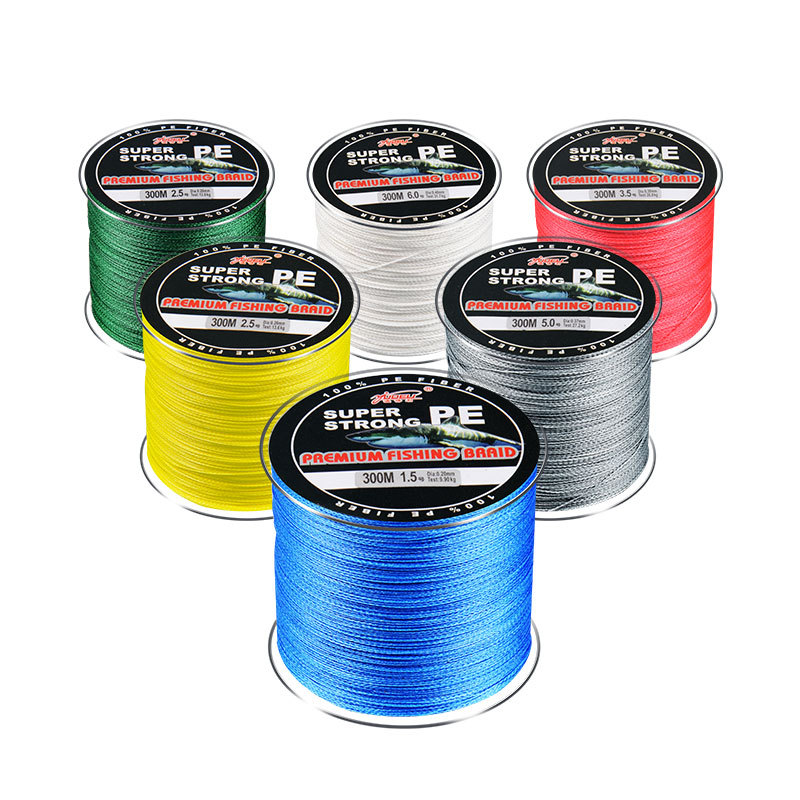300 M 4 Series PE Braided Fishing Line Dyneema Durable Multifilament Rock Sea Fishing Line Wear-Resistant Fishing Wire