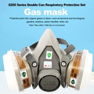 Image 4 - 3M 6200 גז מסכת ריסוס צבע קישוט כימי אבק מסכת הגנה רעיל קיטור מסנן הנשמה חצי מסכת Fit עבור מסנני