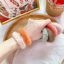 Winter Faux Rabbit Fur Hair Ring Soft Plush Scrunchies Candy Color Elastic Hair Ties Rope Women Soft Girls Kids Hair accessories(China)