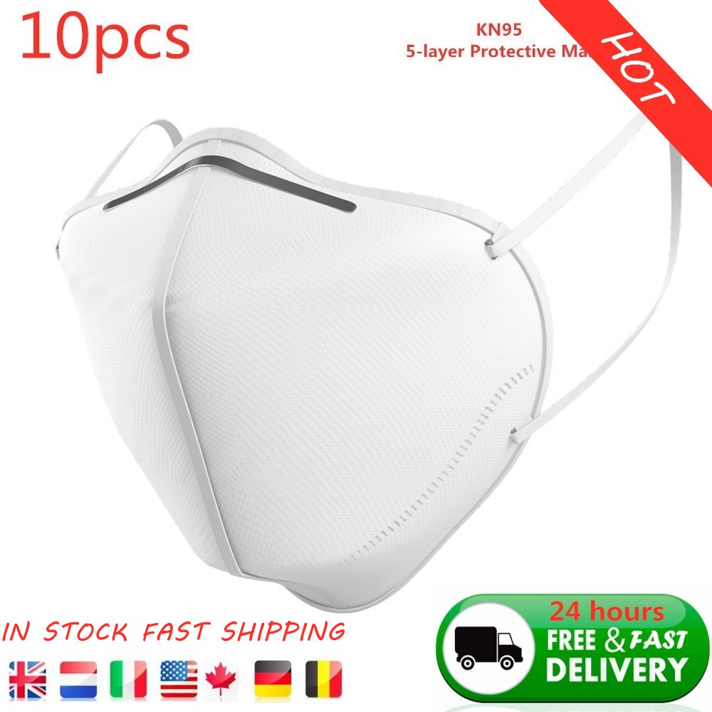 10pcs 5-layer Protective Mask GB2626-2006 Standard KN95 Mask For Daily Life, Factory Floor, Hospital, Clinic, School