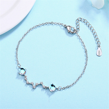 Free Shipping Sterling Silver 925 Original Braclet Big Dipper Stars Moon Stones Armband Accessories Women's Fashion 2019 GMN142