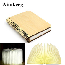 3-color Night light Magnetic Portable Book Lamp USB Rechargeable Reading Lights Christmas Gift for Kids home decoration Lighting