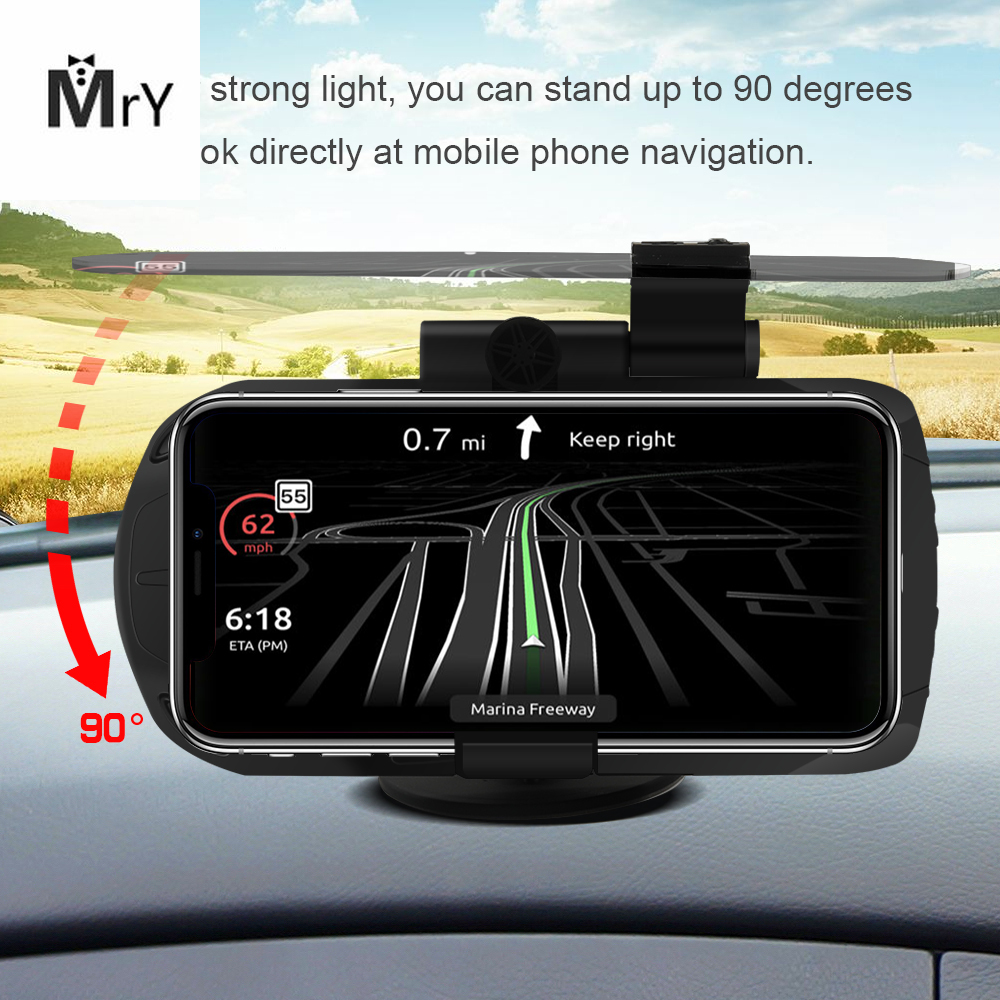 MAHAQI Hot Car Wireless Charger HUD Head Up Display Holder Mobile Phone GPS Navigation Car Speed Projector Car Charging Stand Ho|Head-up Display|   - title=