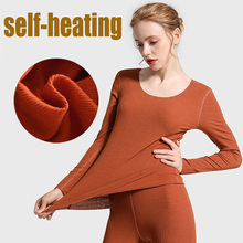2019 ฤดูหนาวใหม่ sam ฟรีตัด seamless ความร้อนความร้อนชุดชั้นในชุดผู้หญิงเสื้อ + กางเกง + กางเกง 2 ชิ้นยาว johns warm ชุด