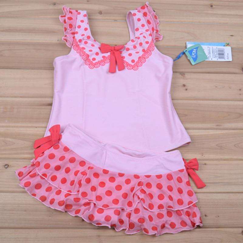 Special Offer Hai Dan Ni Shoppe Genuine Product KID'S Swimwear Girls Split Skirt-Polka Dot Dotted Cute Vest Child
