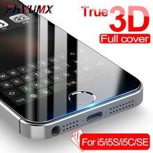 Vidro protetor para iphone, vidro de proteção 3d para iphone 5S 5 5c se, vidro temperado para apple iphone se película da proteção 4 4S
