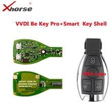 Xhorse vvdi ser chave pro versão melhorada para mercedes benz inteligente chave escudo 3 botão com logotipo