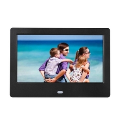 SJD-703 7 Inch LEDs Digital Photo Frame 1024 x 600 H-D Screen Desktop Album Display Image MP4 Video MP3 Audio Clock Calendar wit