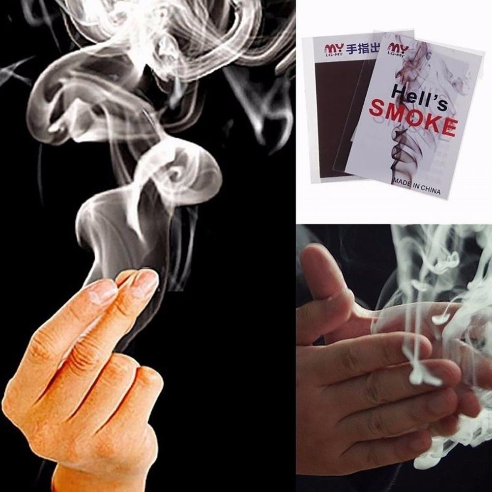 Cool Close-Up Magic Trick Finger's Smoke Hell's Smoke Stage Stuffs Fantasy Props Rose Fire Paper Funny Spoof Novelty Toys,