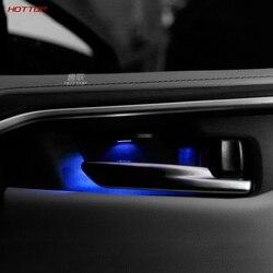 Accesorios de coche consola de engranajes soporte de copa de agua MARCO DE AJUSTE ABS fibra de carbono estilo 1 pieza para Toyota RAV4 XA50 2019 +